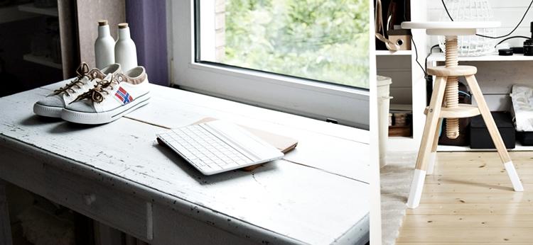 Nebulus Turnschuhe und iPad auf dem weißen Fototisch {by it's me! }