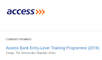 access-bank-entry-level-job