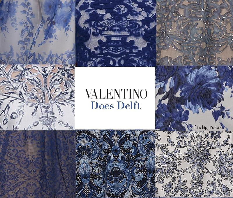 Valentino 2013-14 Fall Winter Delft Dresses