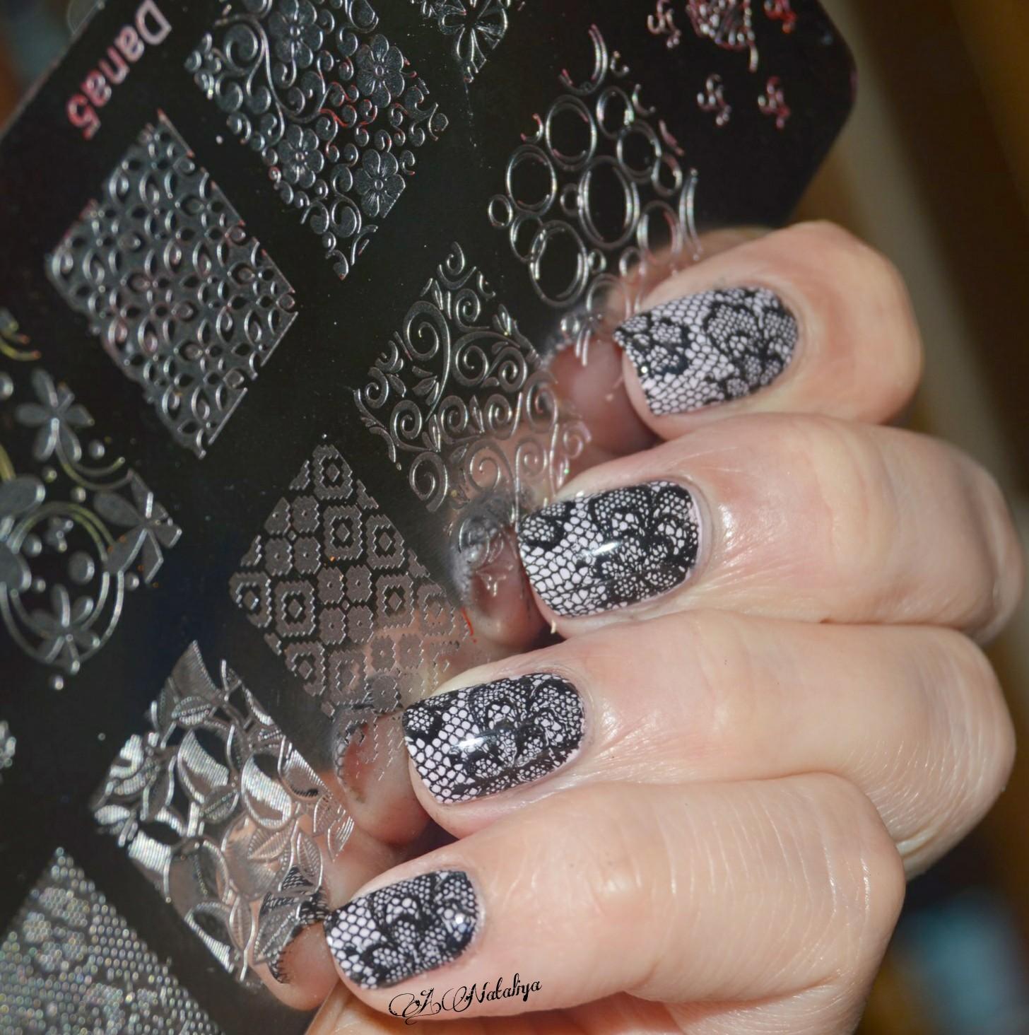 ажурные рисунки на ногтях фото