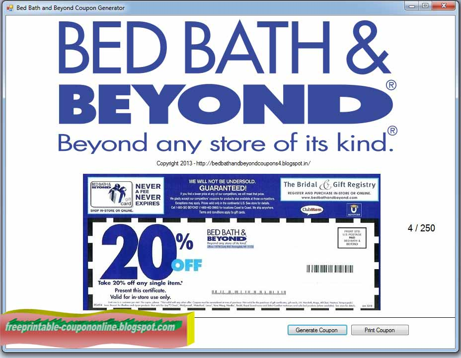 Are The Coupons From Bed Bath Beyond Valid Online