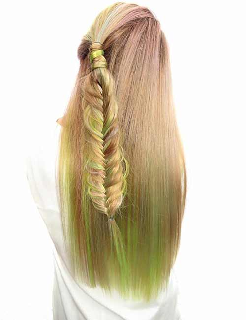 Mermaid Hair Color Idea - Subtle Fishtail
