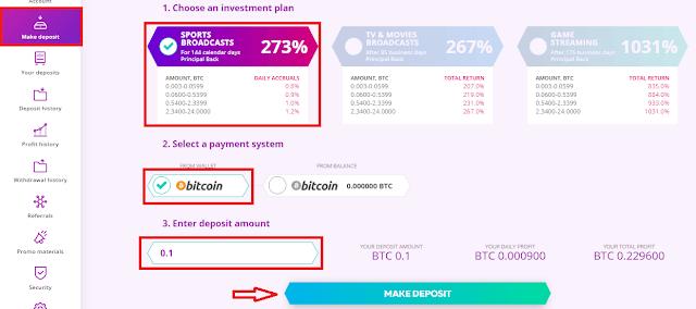 Создание депозита в инвестиционном проекте Bizzilion com