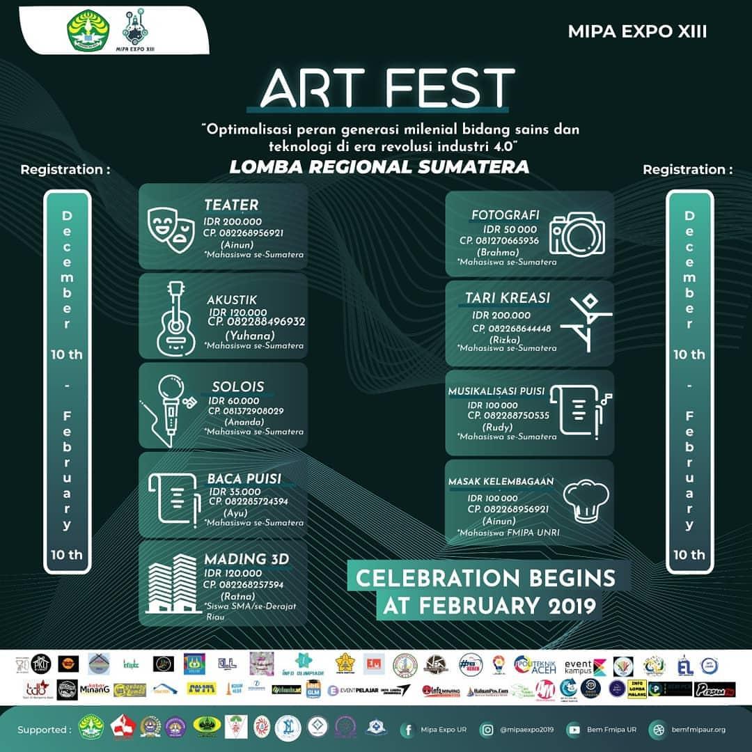 Event ART FEST Tingkat Nasional 2019 SMA Sederajat & Mahasiswa