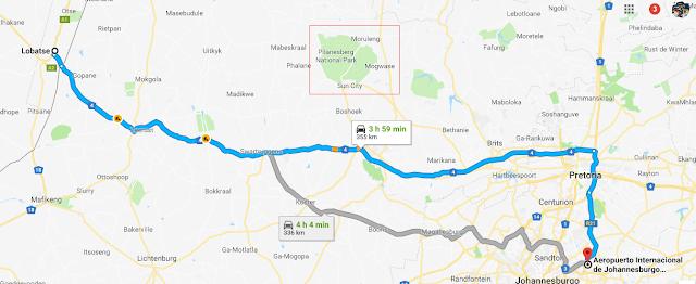 ruta en sudáfrica