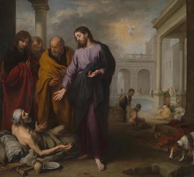 Imagem de Jesus curando o paralítico na piscina de Betesda, pintura, #1