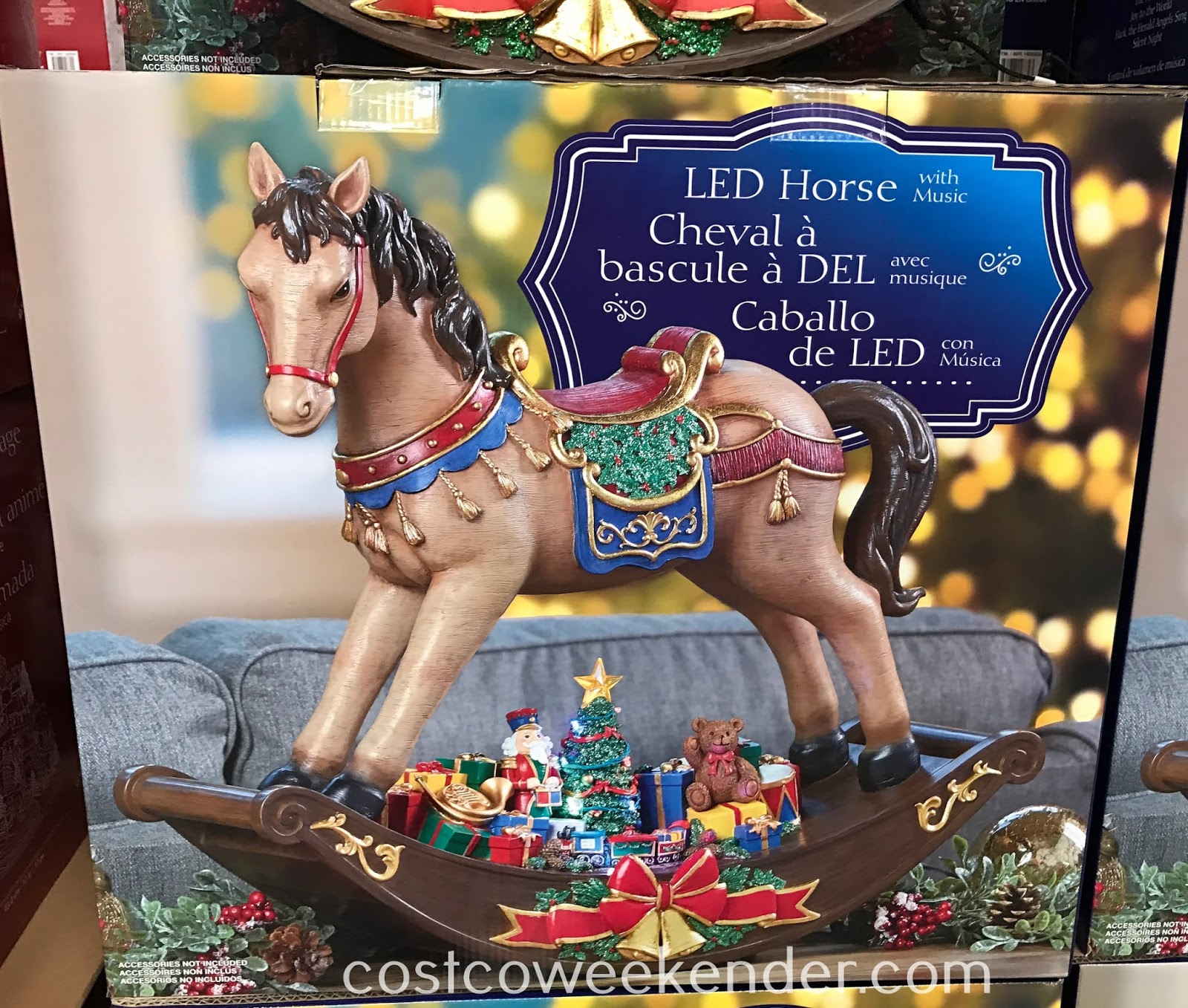 Decorate your home this Christmas with the LED Table Top Horse with Music