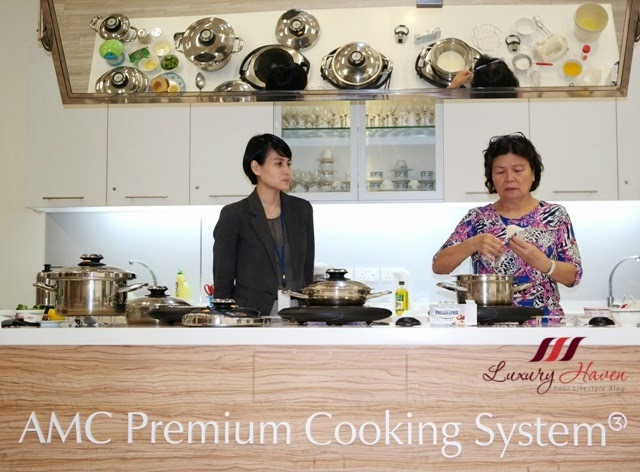 amc premium cooking system free product demo
