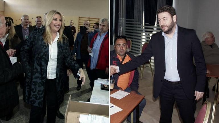 Εκλογές Κεντροαριστεράς: Γεννηματά - Ανδρουλάκης το δίδυμο του β' γύρου