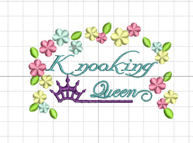 Knooking Queen Embroidery file