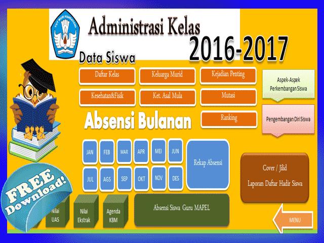 Aplikasi Olah Nilai Sekolah Dasar (SD) New Otomatis
