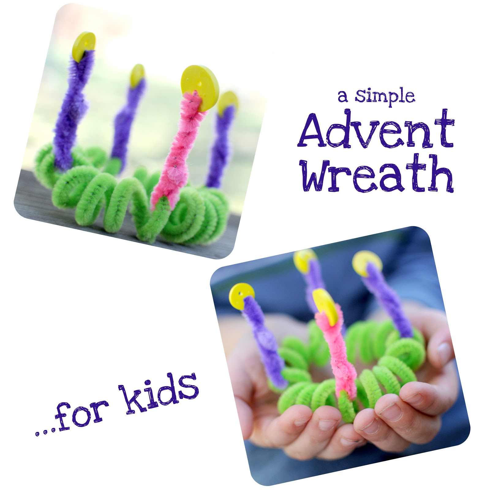 when running amok an advent wreath made by kids for kids. Black Bedroom Furniture Sets. Home Design Ideas