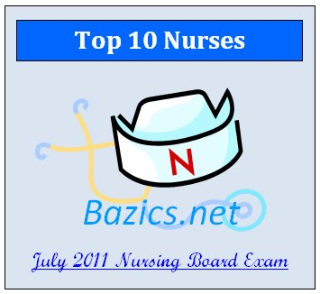 List of successful examinees in the July 2011 Nurse