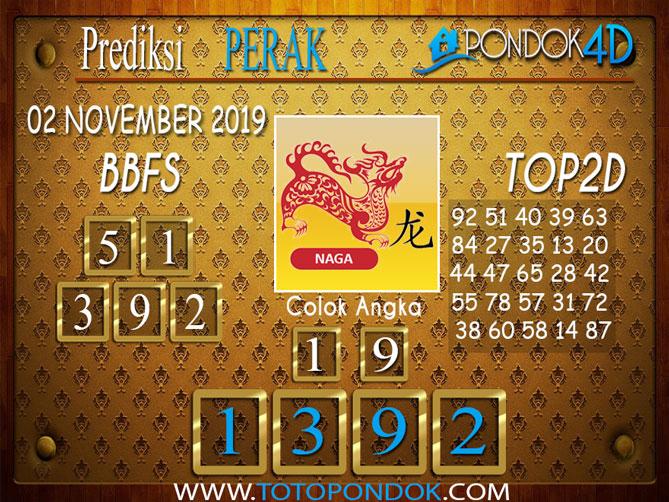 Prediksi Togel PERAK PONDOK4D 02 NOVEMBER 2019
