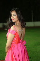 Actress Pujita Ponnada in beautiful red dress at Darshakudu music launch ~ Celebrities Galleries 081.JPG