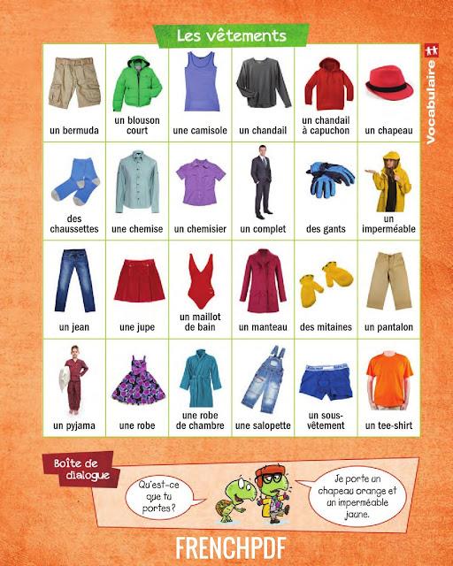 Apprendre le français en image: Les vêtements