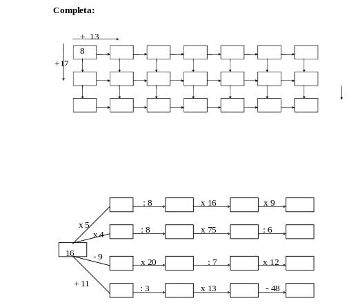 Ejercicios De Matemáticas Cuarto Y Tercero – Name