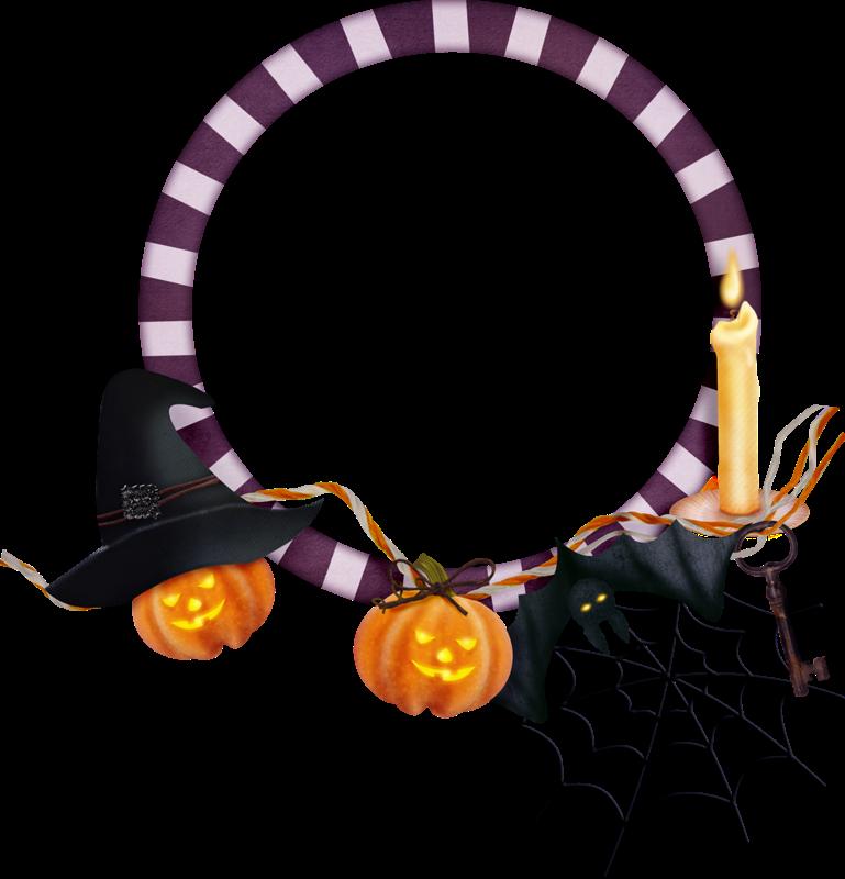 Marco redondo de Halloween