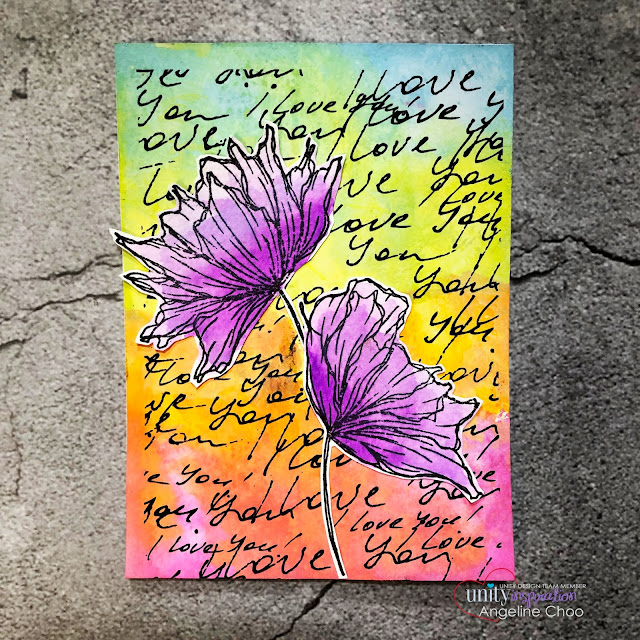 ScrappyScrappy: Lots of Love #scrappyscrappy #unitystampco #cardmaking #card #stamp #stamping #youtube #quicktipvideo #brutusmonroe #gracielliedesigns #timholtz #distressoxide #backgroundstamp #inkblending #rainbowcolors #jennifermcguire #watercolor