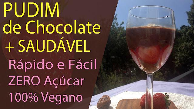 Mais Saudável | Pudim de Chocolate Fit 100% Natural ZERO Açúcar | Vegano e Sem Lactose
