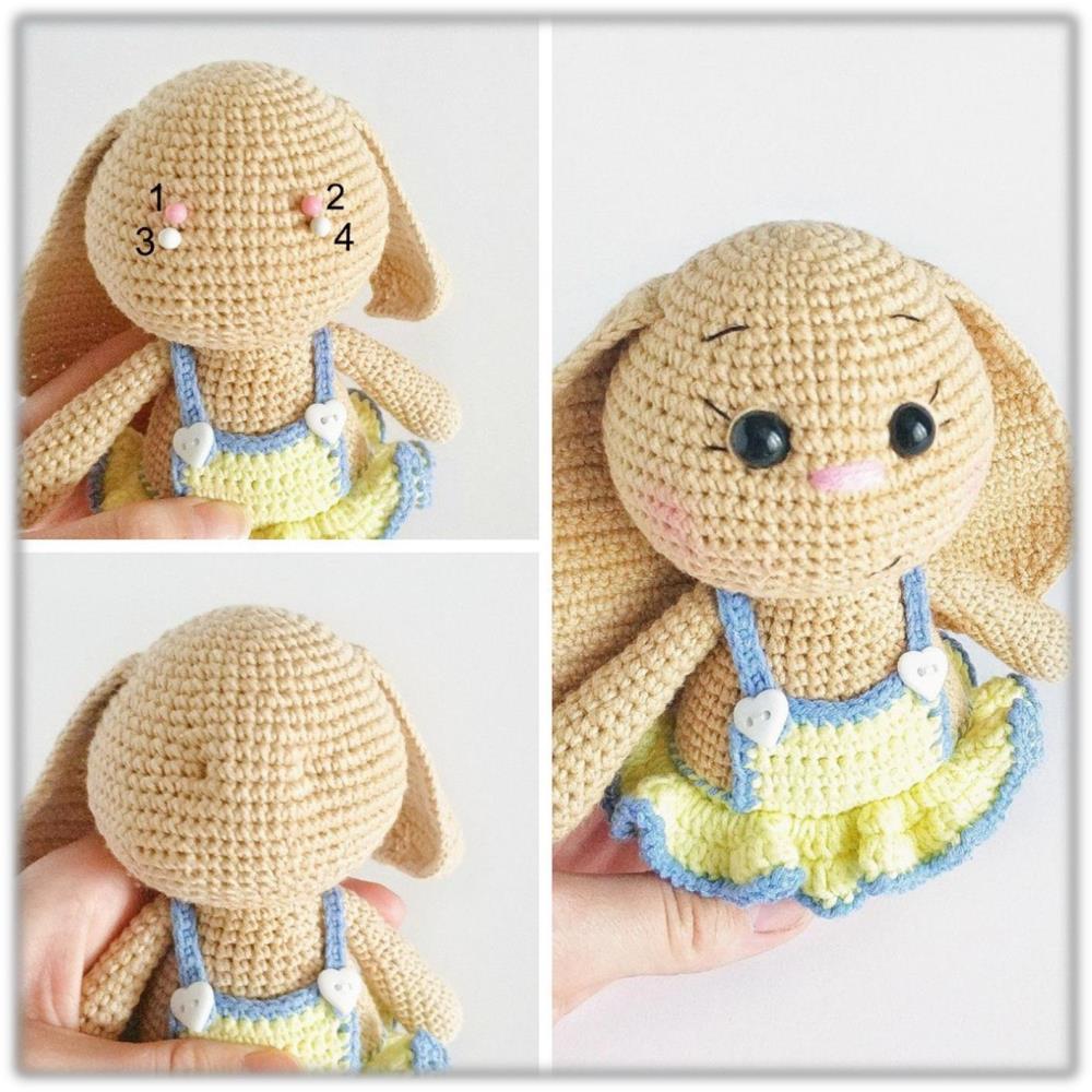 Free Crochet Bunny Pattern! - Leelee Knits | 1000x1000