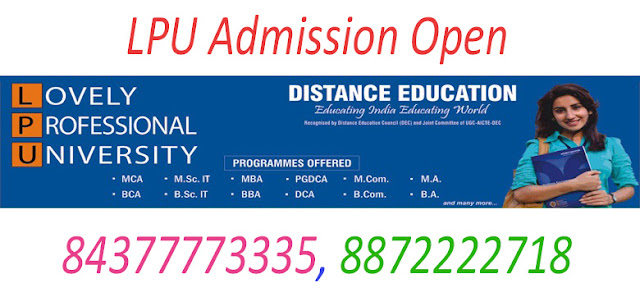 MA Correspondence / Distance Education (LPU) in Chandigarh