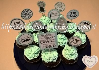 cupcakes con decorazioni fai da te in carta originali per festa del papà