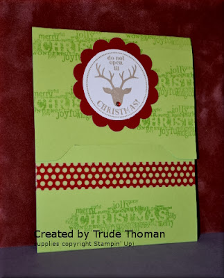 Gift Card Holder, Tags 4 You, Stamp with Trude, Stampin' Up!, Christmas, Envelope punch board