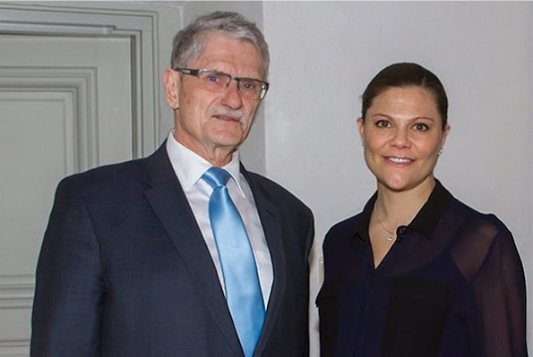 Crown Princess Victoria of Sweden met with Mogens Lykketoft, the president of United Nations General Assembly at Stockholm Royal Palace.