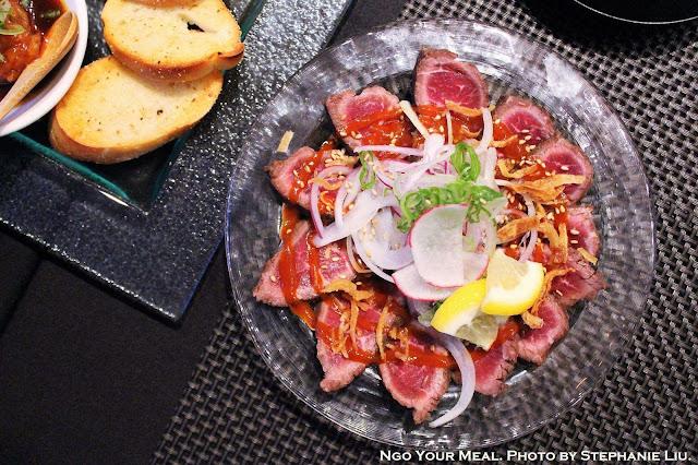 Beef Tataki at TEISUI in New York City