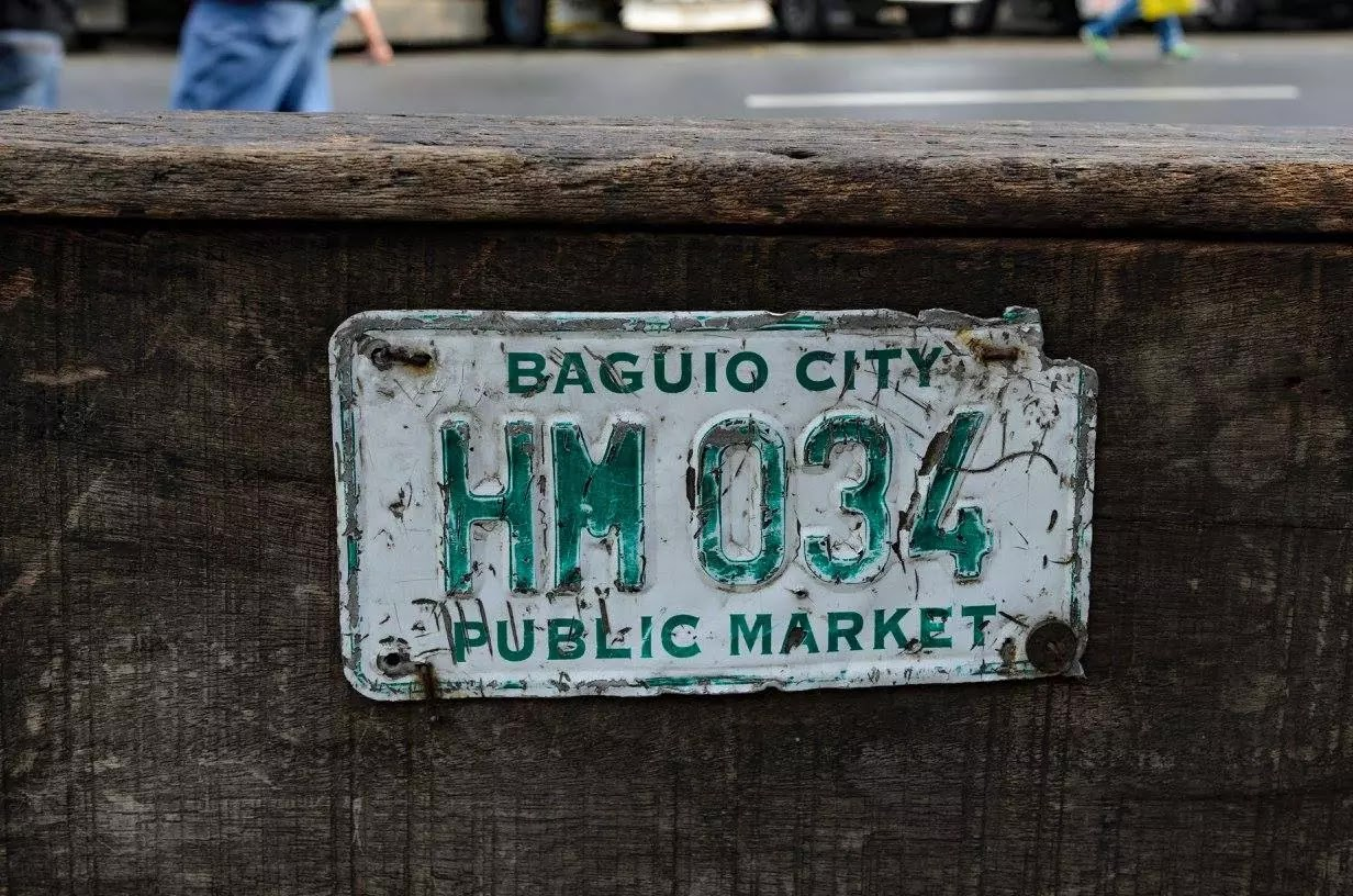 Baguio City Porter Cart Official Cargo Plate Baguio City Public Market Cordillera Administrative Region Philippines