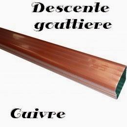 gouttière cuivre