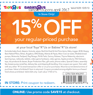 free Babies R Us coupons april 2017