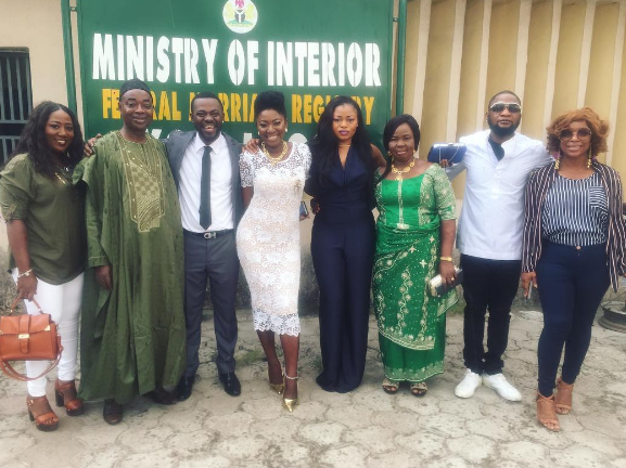 Image result for Photos from Yvonne Jegede & Abounce's court wedding