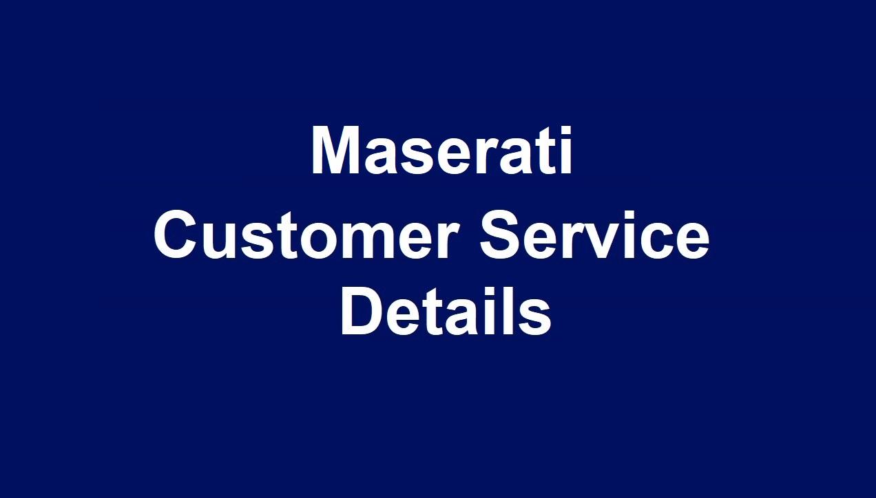 Maserati Customer Service Number