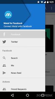 Metal أفضل بديل لتطبيقي فيس بوك وتويتر على اندرويد