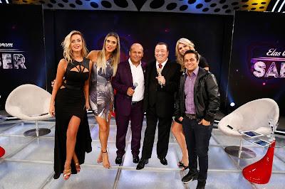 Lola, Ciça, Carlinhos Vidente, Raul, Val e Thammy (Crédito: Rodrigo Belentani/SBT)