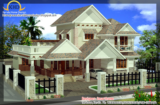 256 square meter (2758 sq. ft) villa design - August 2011