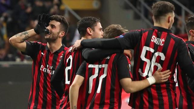 Hasil Liga Europa: AC Milan Benamkan Dudelange 5-2