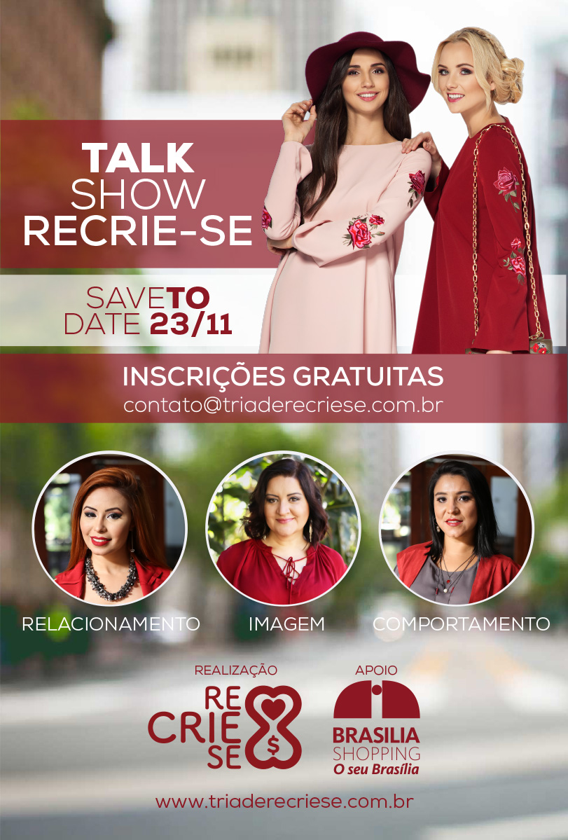 Talk Show Gratuito Recrie-se no Brasília Shopping