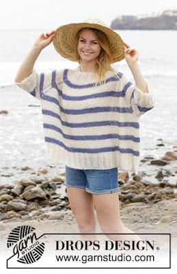 d9b1239a Gratis oppskrift genser til dame. Med noen gram Brushed Alpakka Silk og  pinner nr.5 strikker du fort sommerens letteste og lune genser.