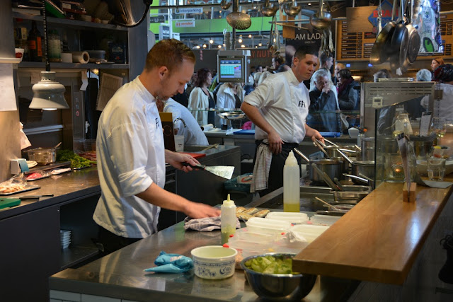 Markthal Rotterdam cooking