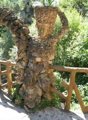 Árbol y detalle en los Jardines Artigas