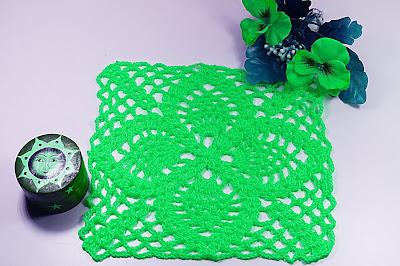 4- Crochet Cuadro de puntos de piñas Majovel Crochet ganchillo.