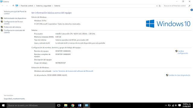 Accede a opciones ocultas de Windows 10