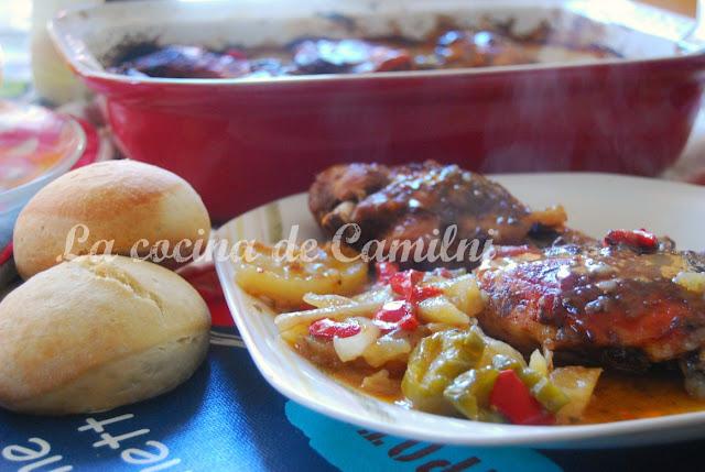 Contramuslos de pollo al horno (La cocina de Camilni)