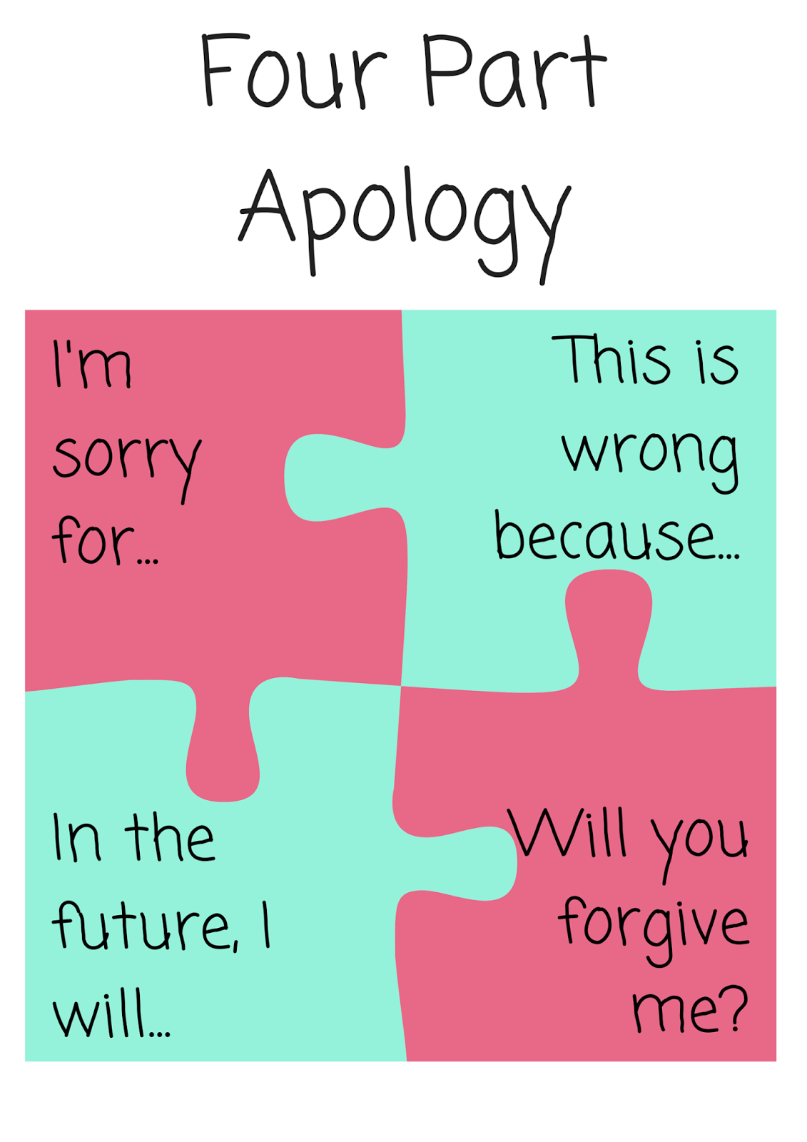 A Girl With No Strings The Four Part Apology Free Printable