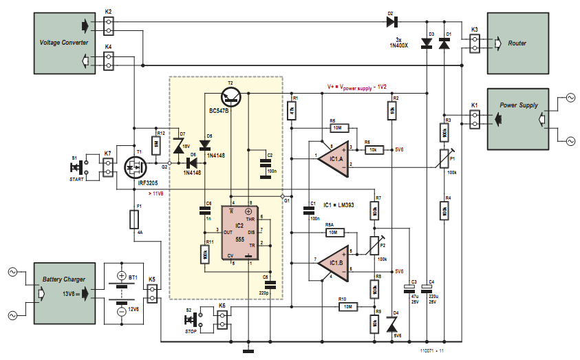Electronic Router Ups Circuit Diagram