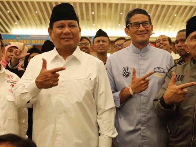 Prabowo - Sandiaga Klaim Menang 52 Persen dengan 68.650.239 Suara