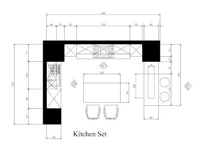 idesign arsitektur kitchen set minimalis dengan dinding